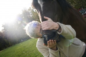 Karin med hästen